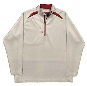 Sun Mountain 1/4 Zip Performance  Golf Pullover Jacket Men XL  Gray/ Red EUC!!!
