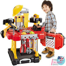 100 Pieces Kids Construction Toy Workbench for Toddlers Toy Tool