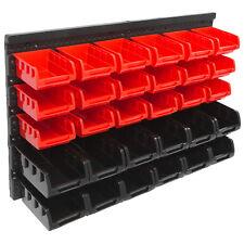 Stapelboxen Wandregal 32tlg Box Sichtlagerkästen Schüttenregal Lagersystem Regal