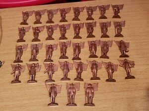 Norge Presidential Figures Brown 3 Inches Complete Set Of 35 Original Box...