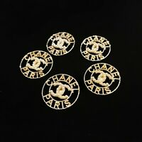 Chanel Buttons Polished Brass & Pearls 24mm – Lot of 5