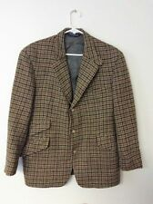 Polo Ralph Lauren Sport Coat Jacket Blazer Houndstooth Tweed 42L Shetland Wool
