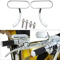 2x Chrome Motorcycle Mirrors Cruiser Universal For Harley Davidson Street Glide