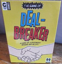THE GAME OF DEAL BREAKER - GINGER FOX GAMES - JUDGEMENT BRAINS BLUFF  NEW SEALED