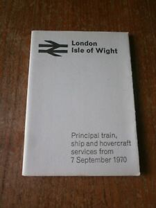 British Rail Pocket Timetable Book-London to Isle of Wight 1970