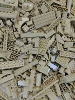 100 Lego Pieces Bulk Lot of Tan Bricks Plates and Parts Castle Star Wars Parts