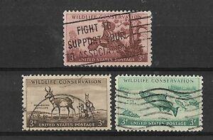 1956 USA United States Used Birds Turkey Pronghorn Antelope King Salmon Fish