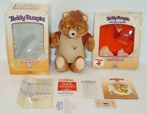 Teddy Ruxpin  Animated Talking Bear WOWWorlds of Wonder 1985 Vintage *Read*