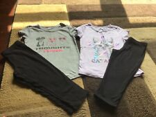 Girls Arizona lot of 4 short sleeve tees capris outfits size 7/8(Guc)