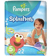 Pampers Splashers Disposable Swim Pants Sesame Street 22 Count, Size 5