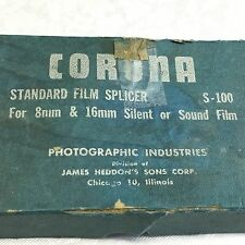 CORONA Standard film splicer S-100.   for 8 and 16mm or sound film.
