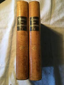 Œuvres de William SHAKESPEARE  2 tomes éditions Deslinières 1890