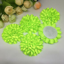 5pcs Fluorescent green ribbon big Peony Flower Appliques/Wedding decoration~