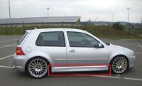 VW VOLKSWAGEN GOLF 4 MK4 3D 3 DOORS R32 LOOK SIDE SKIRTS NEW 2 PCS ( PAIR )