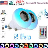 RGB Phone Music Control Play E27 LED Wireless Bluetooth Bulb Light Speaker Lamp