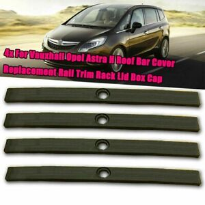 Vauxhall Opel Astra H Roof Bar Cover ReplacementTrim Rack Lid Cap INC Bolt Screw