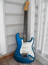 Fender Stratocaster E Series  1988 Japan with KAHLER SPYDER Blue Guitar W/case