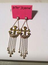 Shape Anchor Chandelier Earrin Bk12 $45 Betsey Johnson Jewelry Ship