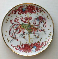 """Christmas Steed 8"""" Plate American Lung Association Ltd Edition Carousel Horse"""