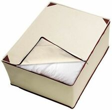 Ordinett Multipurpose Under Bed Blanket Storage Large white / Brown