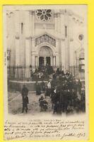CPA RARE FRANCE 83 - LA SEYNE sur MER (Var) EGLISE Sortie de la MESSE en 1903