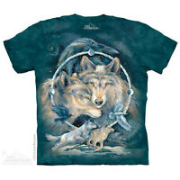In Spirit I Am Free T-Shirt by The Mountain. Fantasy Spirit Wolf Wolves NEW