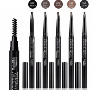 Magical Halo Stereo Eyebrow Pencil & Spoolie Liner Eye brow Pen with Brush