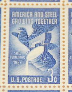 1957 sheet, Steel Industry Issue, Sc# 1090