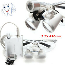Dental Surgical Binocular Loupes Glasses magnifying Zoom+LED Head Lighting Lamp