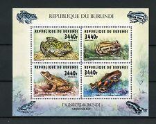 Burundi 2014 MNH rane 4V M / S anfibi grenouilles Bullfrog RUNNING FROG