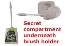 STASH SAFE TOILET BRUSH HOLDER WITH HIDDEN SECRET STORAGE DIVERSION COMPARTMENT