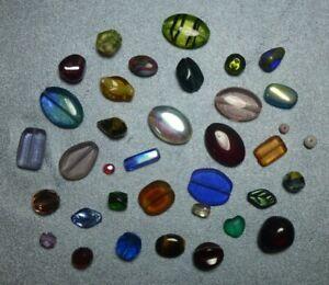 3-18x13mm wonderful assortment of loose Czech glass beads, 8 oz bag, NOS BIN158