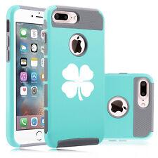 For Apple iPhone Protective Shockproof Hard Soft Case Cover 4 Leaf Clover