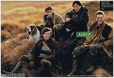 PUBLICITE ADVERTISING 105  1993  AIGLE  bottes vetements de chasse  (2p)
