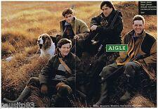 PUBLICITE ADVERTISING 105  1993  AIGLE  bottes vetements de chasse  (2p)