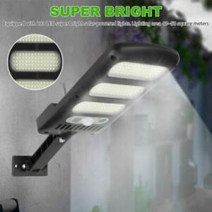 LED Outdoor Solar Street Wall Light Sensor PIR Motion LED Lamp Remote Control