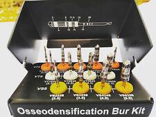 ORIGINAL OSSEODENSIFICATION IMPLANT BURS DRILLS KIT 13 PCS DEN SAH VER SAH
