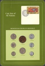 {BJSTAMPS} Coin Sets of All Nations Mongolia People's Republic BU 1980-1981