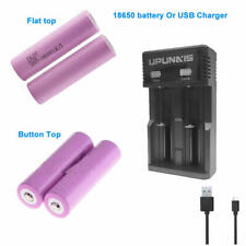 2/4x18650 Rechargeable Battery Li-Ion 2.6AH or Charger For Flashlight Doorbells