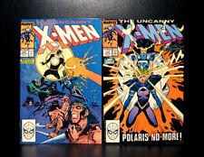 COMICS: Uncanny X-Men #249-250 (1989), 1st Whiteout/Worm app - RARE