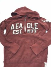 American Eagle Outfitters Hoodie Pullover Fleece Burgundy Size XS