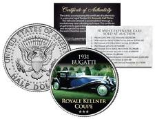 1931 BUGATTI ROYALE KELLNER COUPE Expensive Auction Cars JFK Half Dollar US Coin