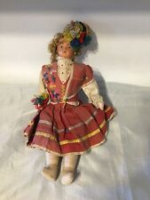 "Vintage Antiguo Muñeca Dolly Madeira Nacional Disfraz 14.5"""