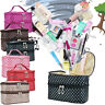WOMEN LARGE COSMETIC MAKE UP TRAVEL TOILETRY BAG PORTABLE CASE HANDBAG POUCH