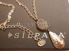 SILPADA Modernist Sterling Silver 925 Druzy Glisten Up Brass Necklace N3095, $89