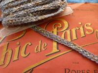 neuf 8,90 x1cm galon lainage gris chiné =manteaux ,tailleurs ???