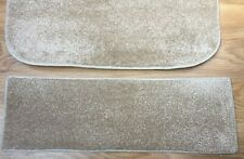 26 x8.50inches(66 x22cm) BEIGE STAIR PADS SET OF 12 BLEACH CLEANABLE #5074a