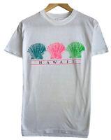 Vintage Hawaii Shells 80s Men's Size Medium White Single Stitch Spellout T-Shirt