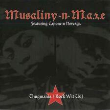 Musaliny-n-M.a.z.e.: Thugmania (Rock Wit Us) PROMO w/ Artwork MUSIC AUDIO CD 6tk