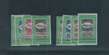 Middle East Yemen mnh SCARCE stamp set of 4 - red & Black SANNA Plane ovpt